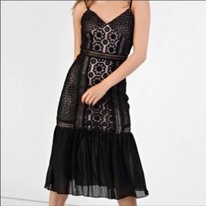 Glamorous Black Lace Dress